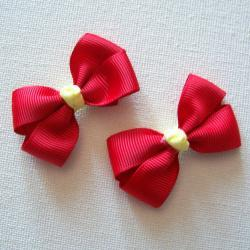 Mini Boutique Bow Pair - Red, Yellow