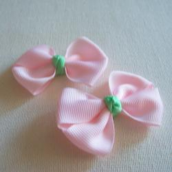 Mini Boutique Bow Pair - Blush Pink, Mint Green