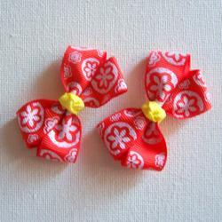 Mini Boutique Bow Pair - Orange, White, Yellow